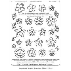 (TP3529E)PCA® - EasyEmboss 3D Flower Toppers 1