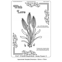 (TP3530E)PCA® - EasyEmboss Simply Flowers - 11