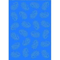 Pergamano vellum paisley blue