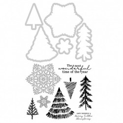 (DD985)Kaisercraft decorative die & stamp nordic christmas
