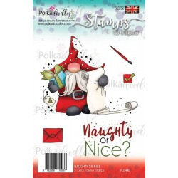 (PD7440)Polkadoodles Gnome Naughty or Nice Clear Stamps