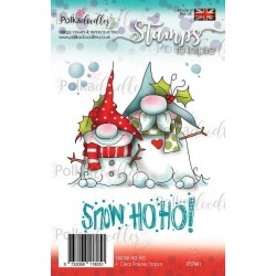 (PD7441)Polkadoodles Gnome Snow Ho Ho Clear Stamps