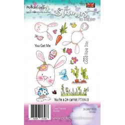 (PD7262)Polkadoodles 24 Carrot Friend Clear Stamps