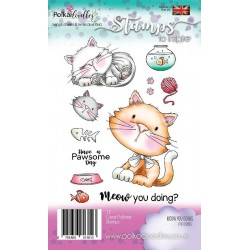 (PD7265)Polkadoodles Meow You Doing Clear Stamps