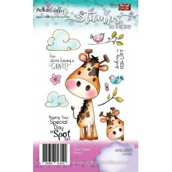 (PD7266)Polkadoodles Having A Giraffe Clear Stamps