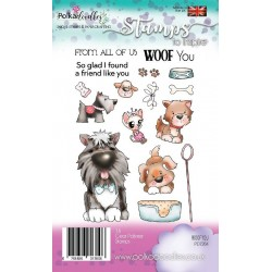 (PD7264)Polkadoodles Woof You Clear Stamps