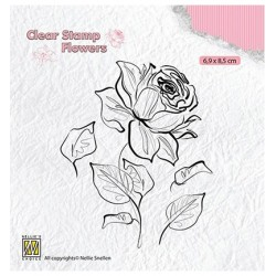 (FLO017)Nellie`s Choice Clearstamp - Flowers Rose