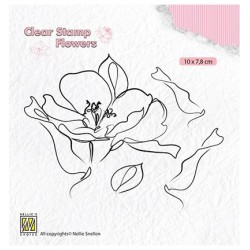 (FLO018)Nellie`s Choice Clearstamp - Flowers Wild rose