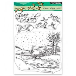 (30-517)Penny Black Stamp clear Christmas 2018 Winter Days