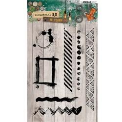 (STAMPIN319)Studio light Stamps Industrial 3.0, Nr. 319