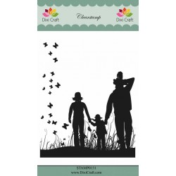 (STAMP0131)Dixi Craft Family Clear Stamp