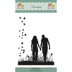 (STAMP0132)Dixi Craft Couple Clear Stamp