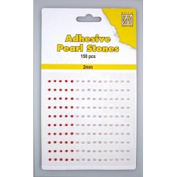 (APS201)Nellie`s Choice Adhesive pearls 2mm 3-colors - Red