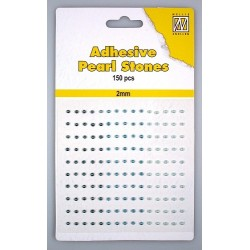 (APS203)Nellie`s Choice Adhesive pearls 2mm 3-colors - Blue