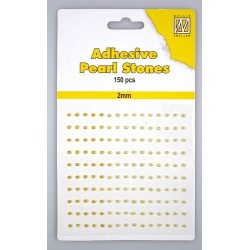 (APS204)Nellie`s Choice Adhesive pearls 2mm Yellow/gold