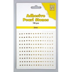 (APS205)Nellie`s Choice Adhesive pearls 2mm  3-colors - Brown