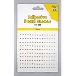 (APS206)Nellie`s Choice Adhesive pearls 2mm  3-colors - Purple