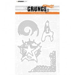 (STENCILSL151)Studio Light Cutting and Embossing Die, Grunge Collection nr.151