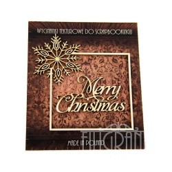 (XMAS_2_001)Filigranki Laser Cut Chipboards frame+Merry Christmas