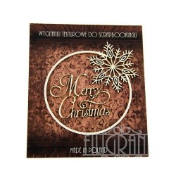 (XMAS_2_003)Filigranki Laser Cut Chipboards frame+Merry Christmas