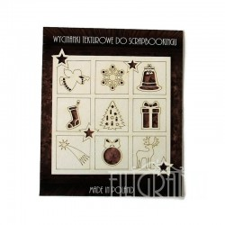 (XMAS_073)Filigranki Laser Cut Chipboards CHRISTMAS SHADOWBOX set 10 pcs