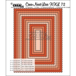 (CNLXXL72)Crealies Crea-Nest-Lies XXL no. 72 Rectangles with open scallop
