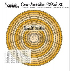 (CLNestXXL80 )Crealies Crea-Nest-Lies XXL no 80 circles - small circles