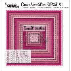 (CLNestXXL81 )Crealies Crea-Nest-Lies XXL no 81 squares - small circles