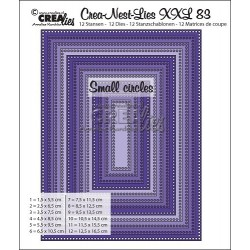 (CLNestXXL82 )Crealies Crea-Nest-Lies XXL no 83 rectangles - small circles