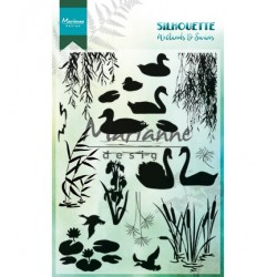 (CS1017)Clear stamp  Silhouette Wetlands