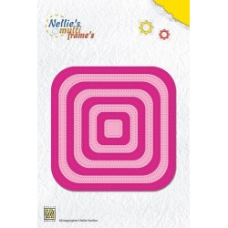 (MFD086)Nellies Choice Multi Frame Dies - Straight dotted square