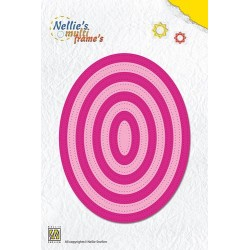 (MFD087)Nellies Choice Multi Frame Dies - Straight dotted oval