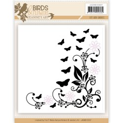 (JAEMB10007)Cut and Embossing folder - Jeanine's Art - Birds and Flowers