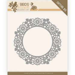 (JAD10059)Dies - Jeanine's Art - Birds and Flowers - Flower Circle