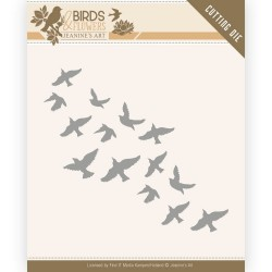(JAD10061)Dies - Jeanine's Art - Birds and Flowers - Flock of Birds