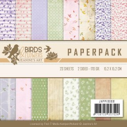 (JAPP10008)Paperpack - Jeanine's Art - Birds and Flowers