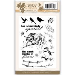 (JACS10021)Clearstamp - Jeanine's Art - Birds and Flowers