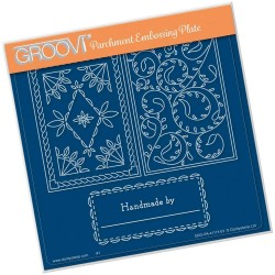 (GRO-PA-41112-03)Groovi Plate A5 JOSIE'S PARCHMENT TRADING CARD DESIGNED BY