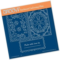 (GRO-PA-41113-03)Groovi Plate A5 JOSIE'S PARCHMENT TRADING CARD HANDMADE BY