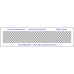 (TP8036LDGSF)PCA FINE Large Diamond Grid Strip