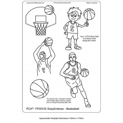 (TP3531E)PCA® - EasyEmboss Basketball