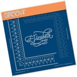 (GRO-GG-41135-12)Groovi Grid Piercing Plate ELIZABETH LACE FRAME...