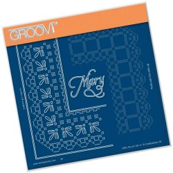 (GRO-GG-41136-12)Groovi Grid Piercing Plate MARY LACE FRAME CORNER...
