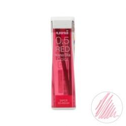(0.5202NDC15)Uni NanoDia Color Erasable Lead - 0.5 mm - Red