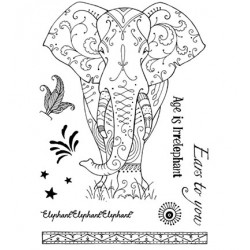 (PI004)Pink Ink Desings Elephant