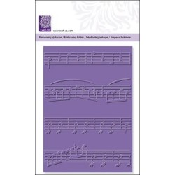 Embossing folder music notes (22730)