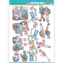 (SB10323)3D Pushout - Yvonne Creations - Funky Nanna's - Sporting Together