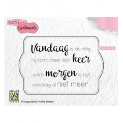 (SENCS011)Nellie's Choice Clear stamps Vandaag is de dag…..