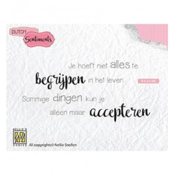 (SENCS012)Nellie's Choice Clear stamps Je hoeft niet alles te...