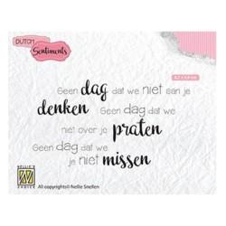 (SENCS014)Nellie's Choice Clear stamps Geen dag dat we niet aan je denken….